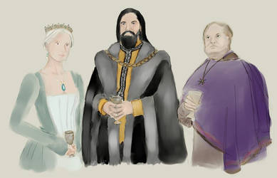 Queen Alyssa, Lord Rogar, Septon Mattheus