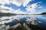 Clouds over lake Hopfensee