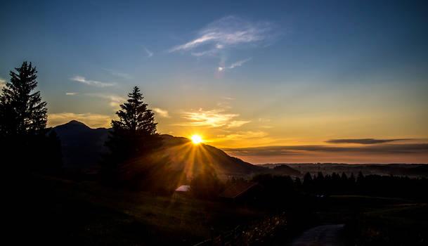 Sunset over Pfronten Kappel