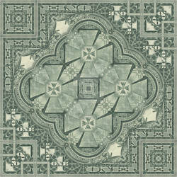 Great Seal of the U.S. - Mirror Mandala 2 by EyeOfHobus