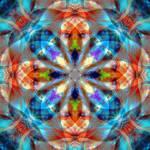 Orange Blues Mandala 2