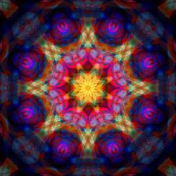 Gold Crown and Purple Velvet Mandala 3