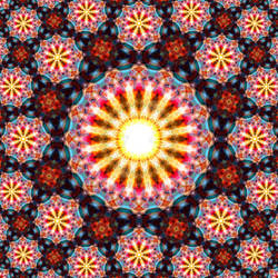 Orange Blues Mandala 3 (Fractal)