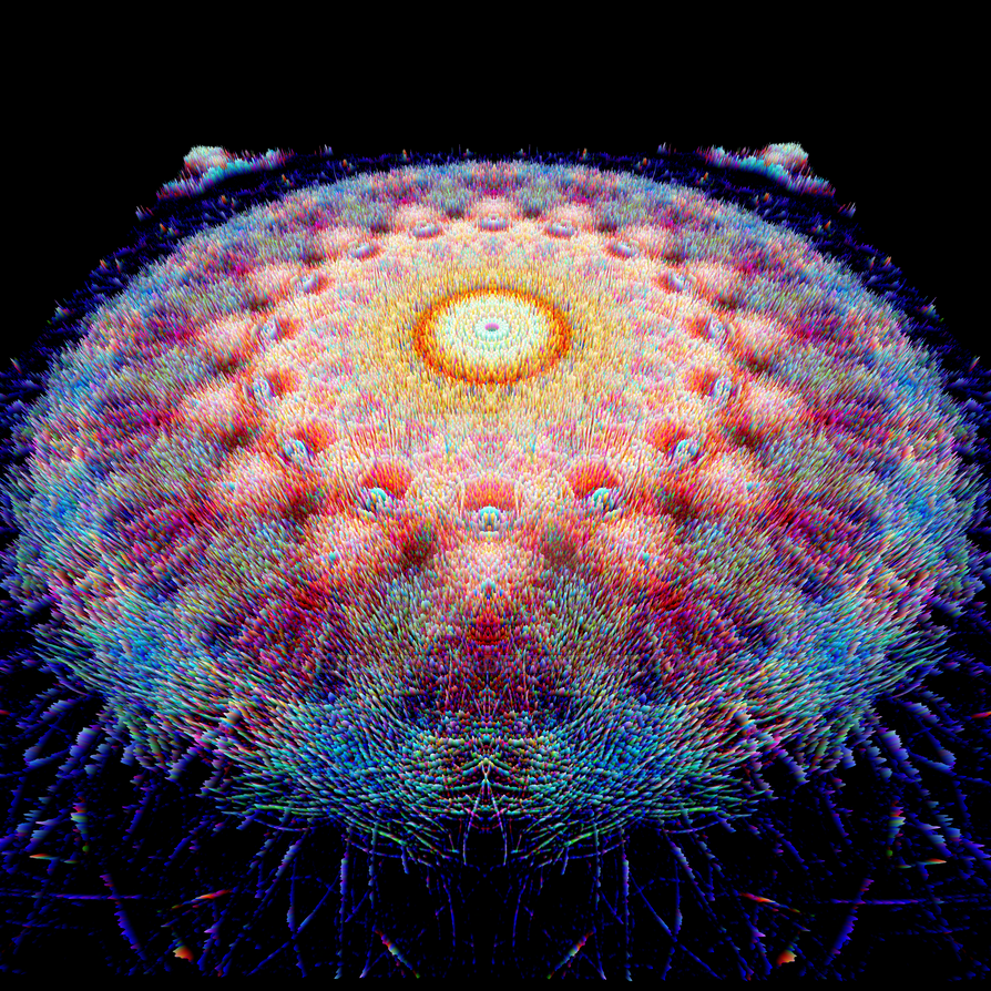 Blue Oranges Mandala 4 (3D Version) by EyeOfHobus