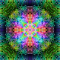 Shattered Rainbow Prism Mandala 3D
