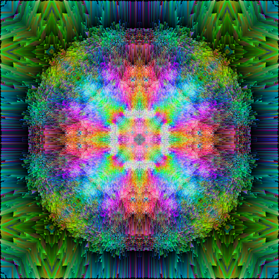 Shattered Rainbow Prism Mandala 3D by EyeOfHobus