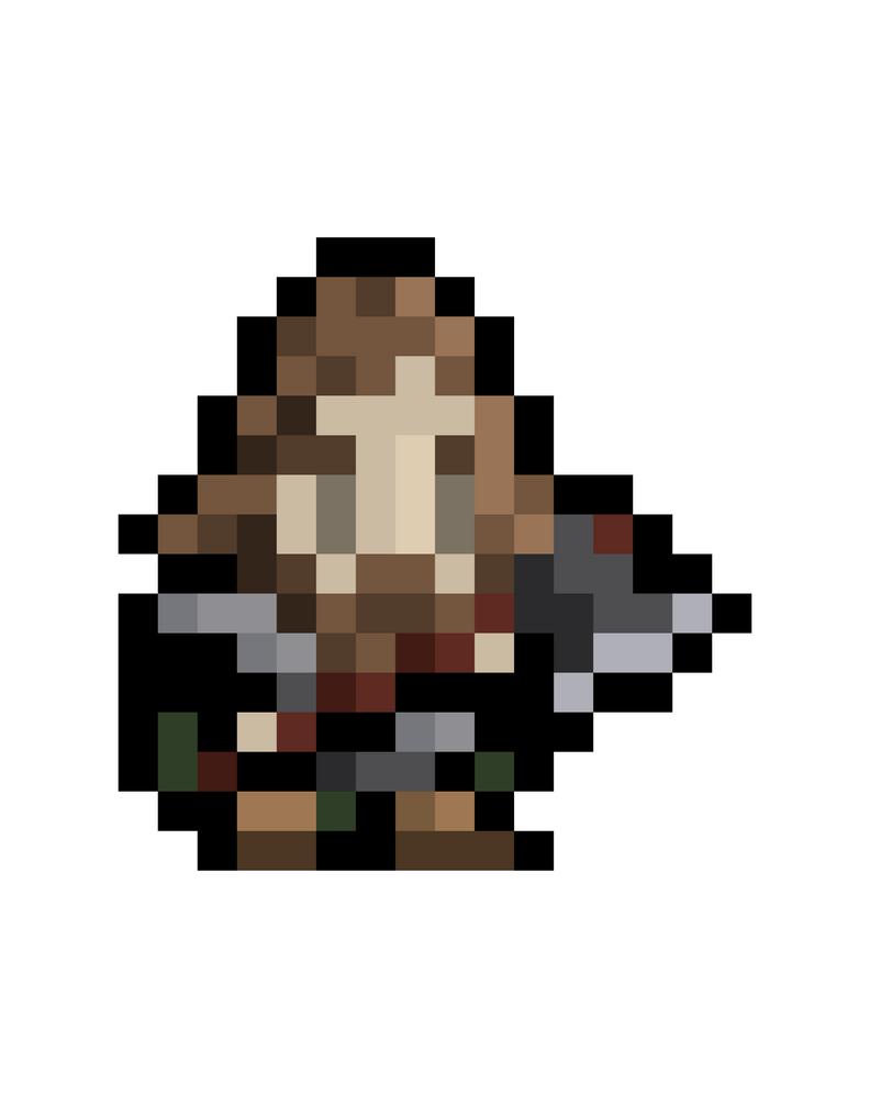 8bit dwarf 16x16 sprite pixel art by obinsun on deviantart