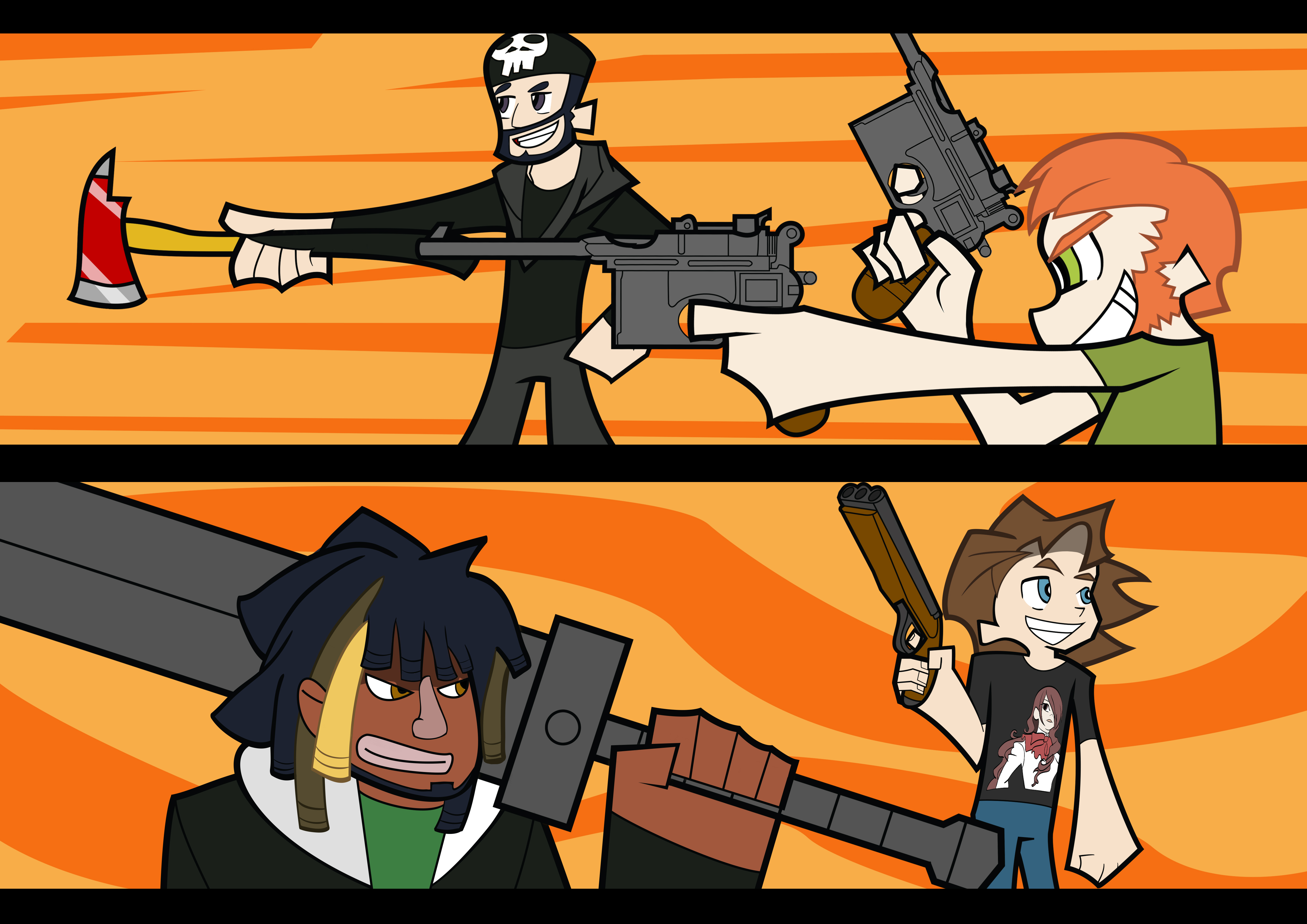 two best friends play on Gamers-of-youtube - DeviantArt