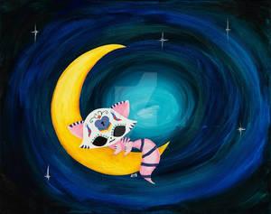 Dia De Los Muertos Sugar Skull Cheshire Cat