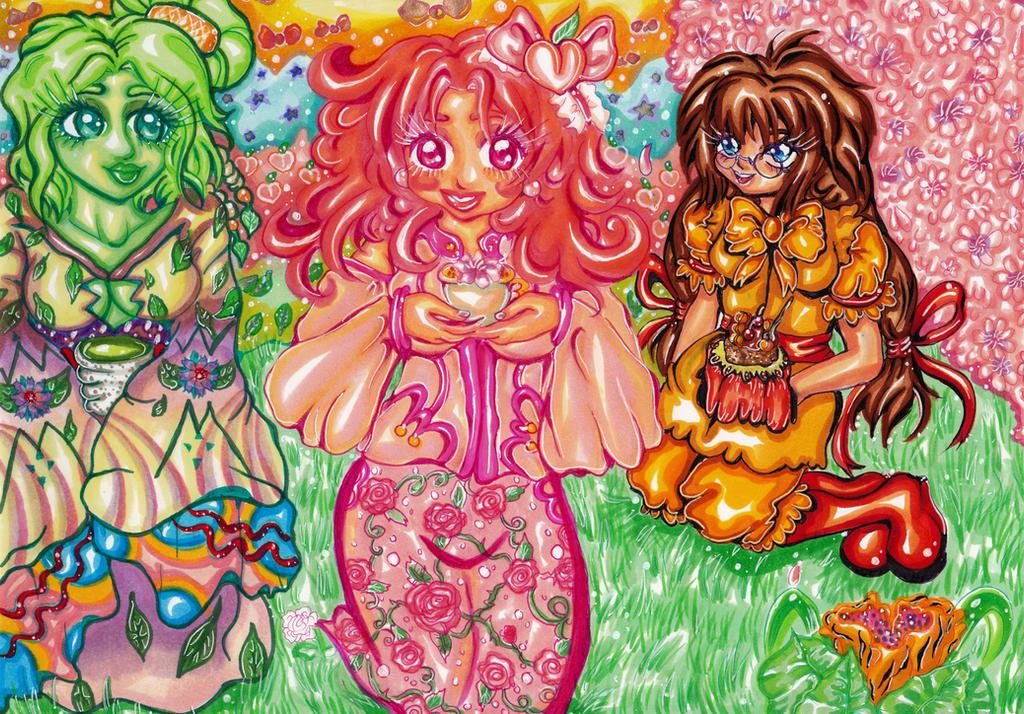 Blushing Peach Art Teatime by ciphersilva