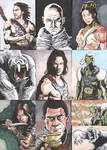 John Carter movie Sketch Cards