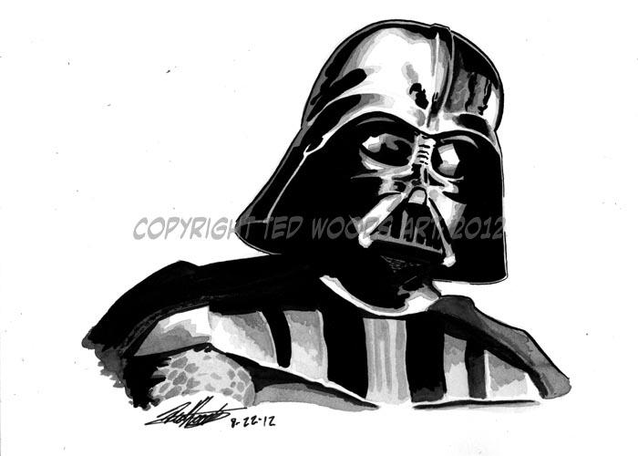 Darth Vader sketch by tedwoodsart on DeviantArt