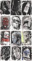 Star Wars Inkwash Cards