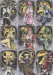 Power Rangers Sketch Cards 1