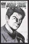 Star Trek Sketch Cover--Karl Urban as Bones by tedwoodsart