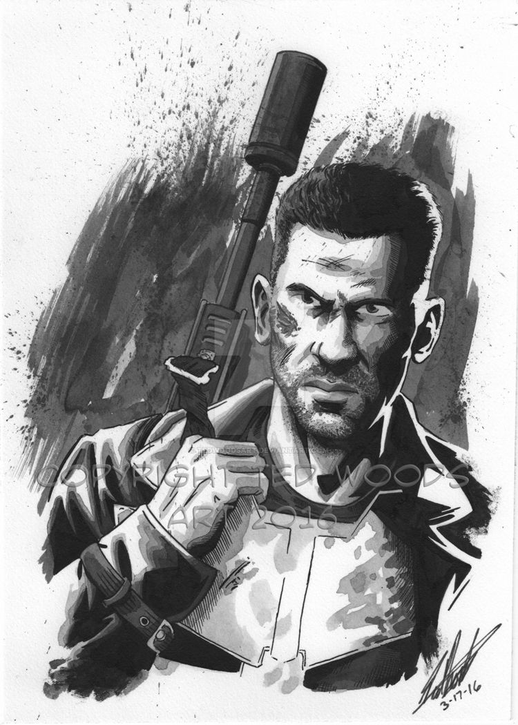 Punisher (Jon Bernthal) by tedwoodsart