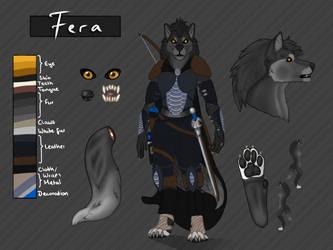[Reference Sheet] Fera by PinkLionArt