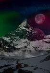Snowy Mountains and Polar Lights (Skyrim inspired)