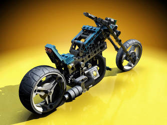 Lego Motorcycle rerendered by warag