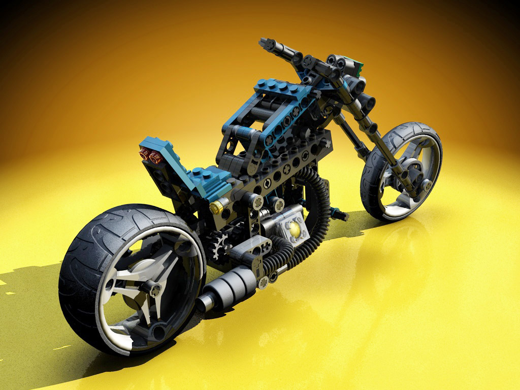 lego technic motorcycles mag wheel master rendered by warag. Black Bedroom Furniture Sets. Home Design Ideas