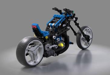 Lego technic motorcycle by warag