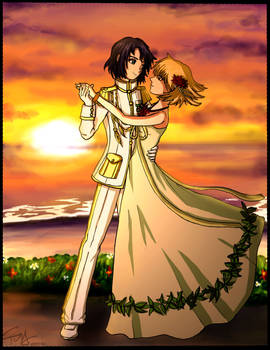 Lady Cagalli and Sir Athrun
