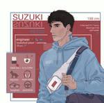 Suzuki (OC). Character sheet by ShirubarT