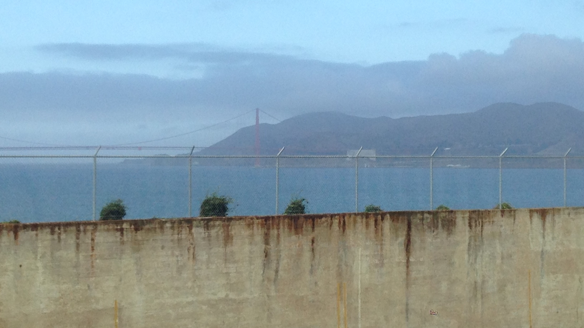 View of the Golden Gate Bridge from Alcatraz by pauliesworld