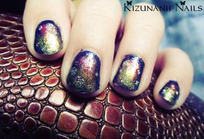 Nebula Nail Art by KizunaniiNails
