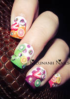 Summer Fruit Nails by KizunaniiNails