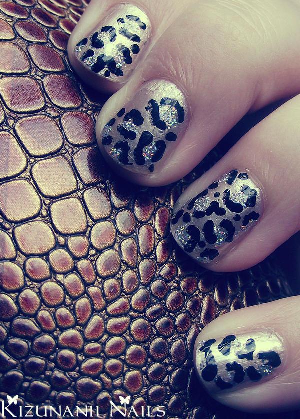 Leopard Glam Nails by KizunaniiNails