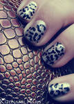 Leopard Glam Nails