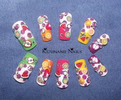 Summer Fruit Nail Set by KizunaniiNails