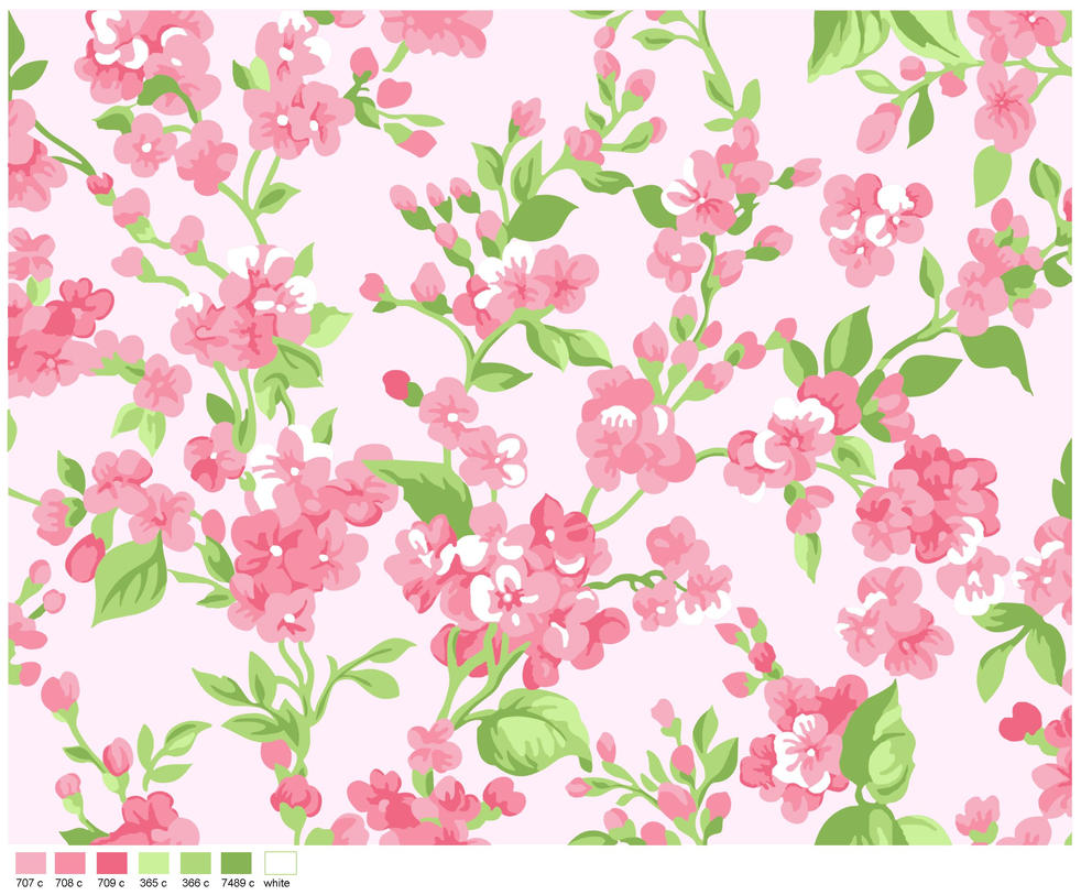 seamless flower print 4 by doncabanza