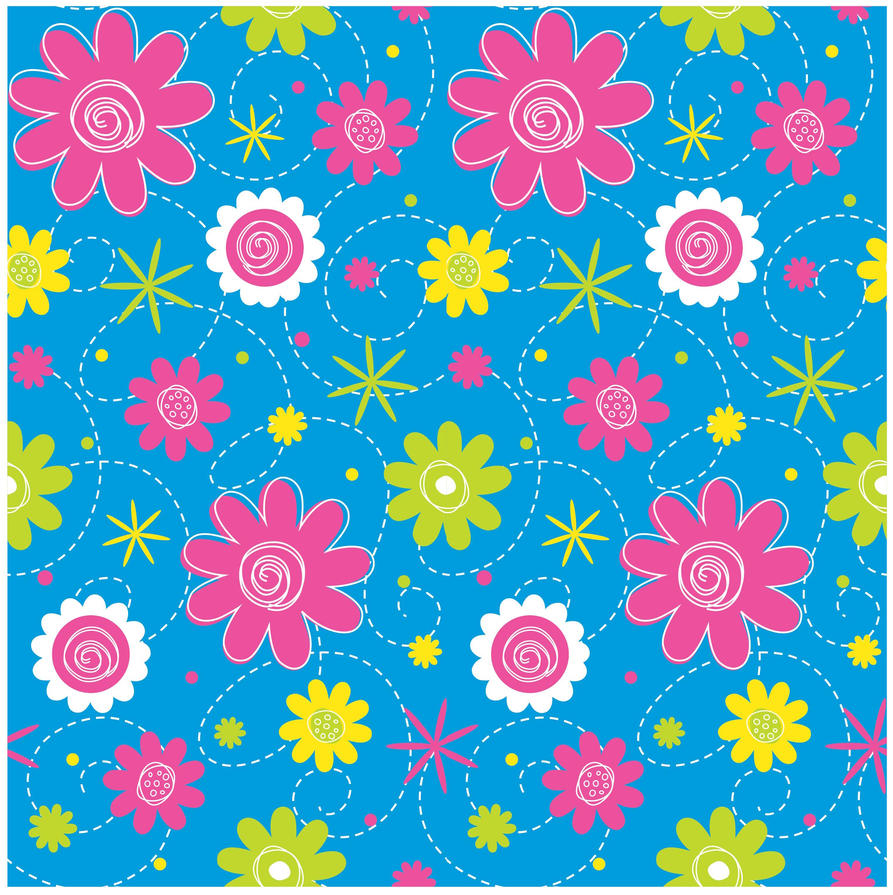 seamless flower print 8 by doncabanza