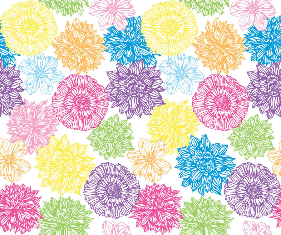 Seamless Flower Print 16 By DonCabanza
