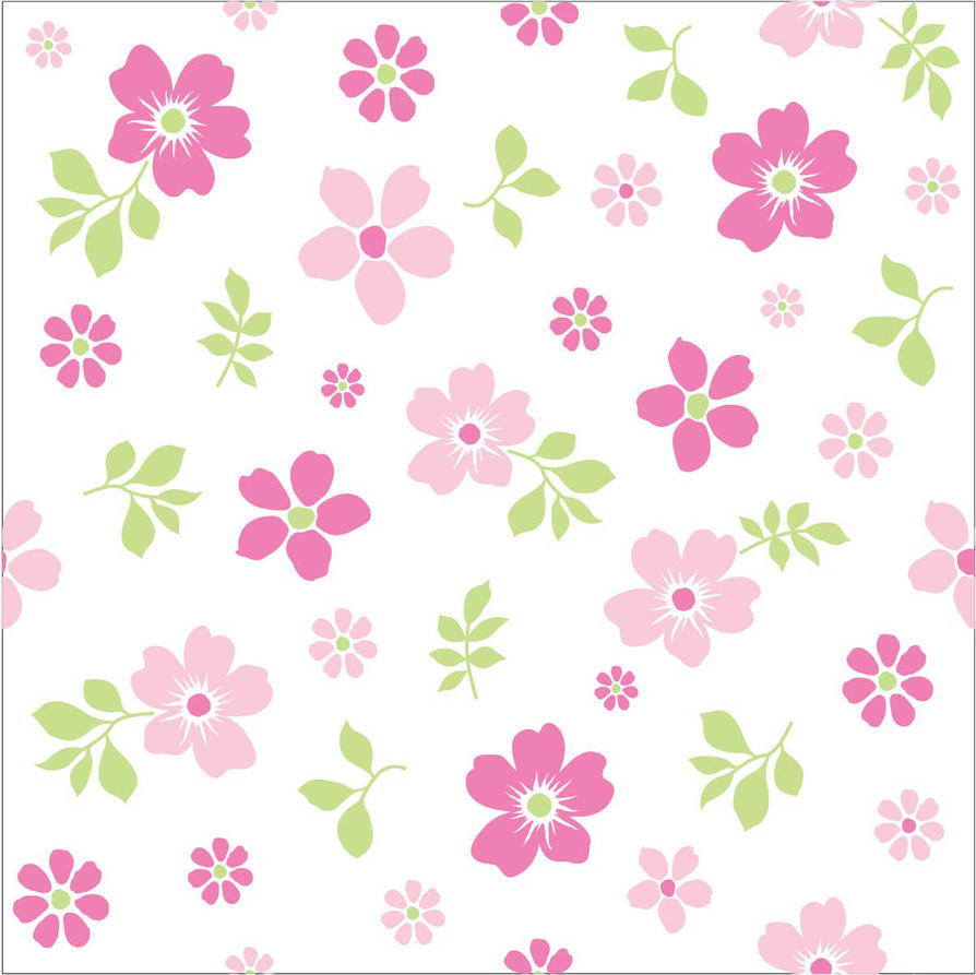 Seamless Flower Print 20 By DonCabanza