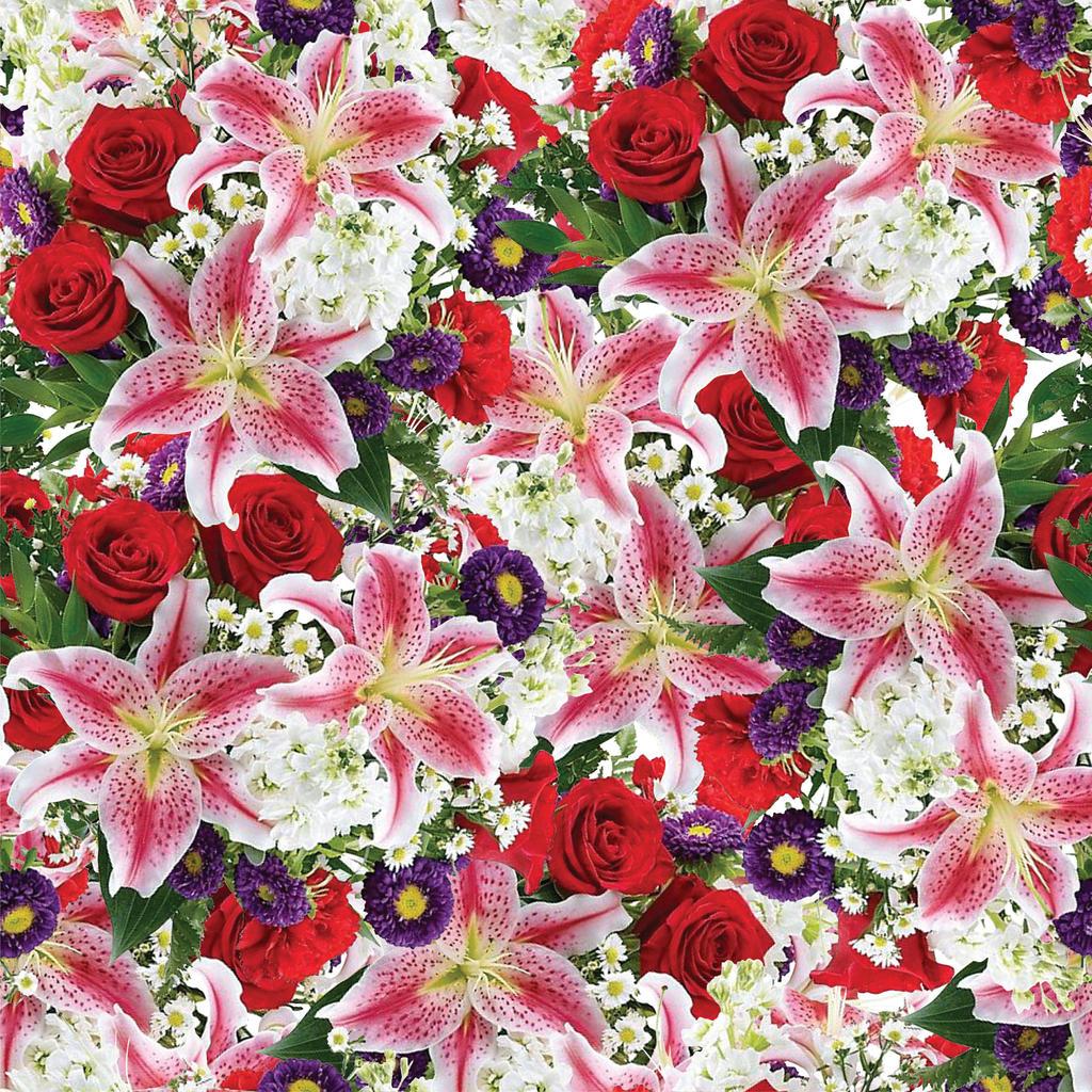 Seamless Flower Print 24 by DonCabanza on DeviantArt