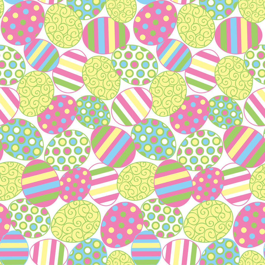 Easter Spring Seamless Print Pattern 6 By DonCabanza On