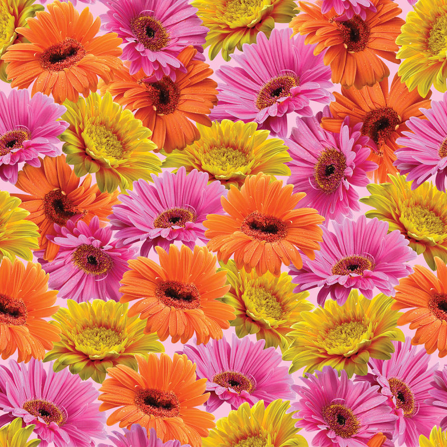 seamless flower print 23 by doncabanza