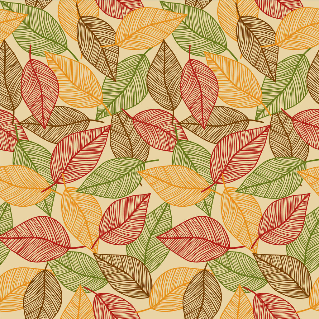 seamless fall leaves print by doncabanza on deviantart