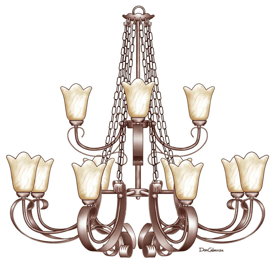 12 Lights Chandelier by DonCabanza