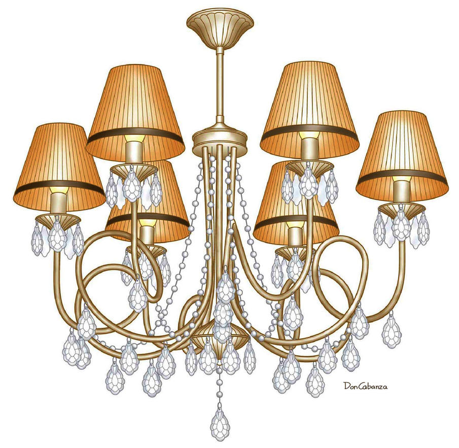 6 Lights Chandelier by DonCabanza