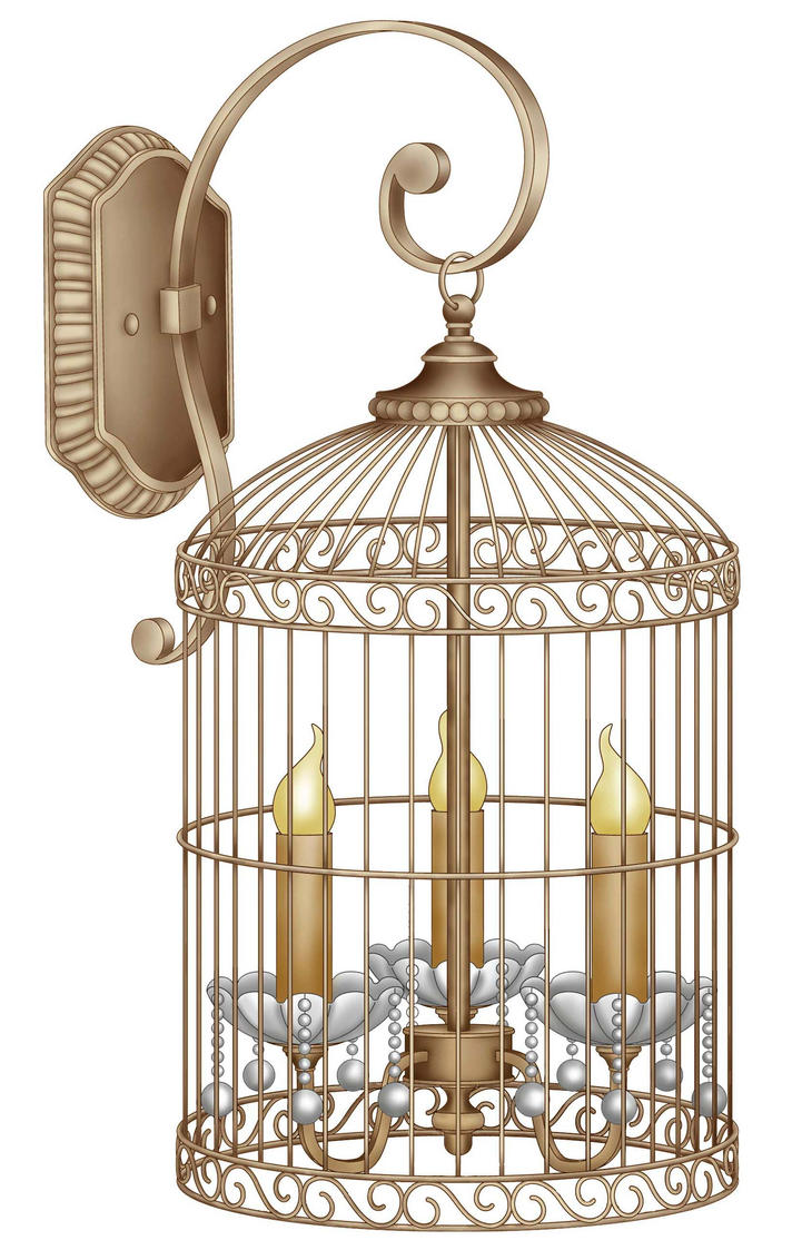 3 Light Bird Cage Sconce by DonCabanza