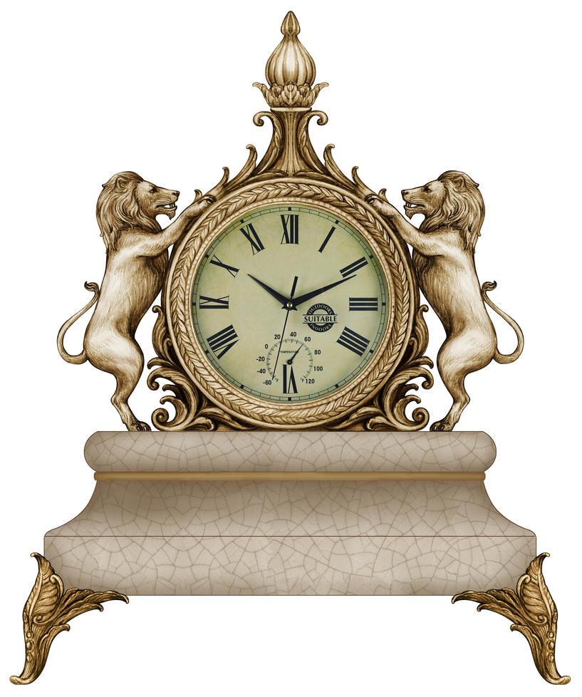 Lion Clock by DonCabanza