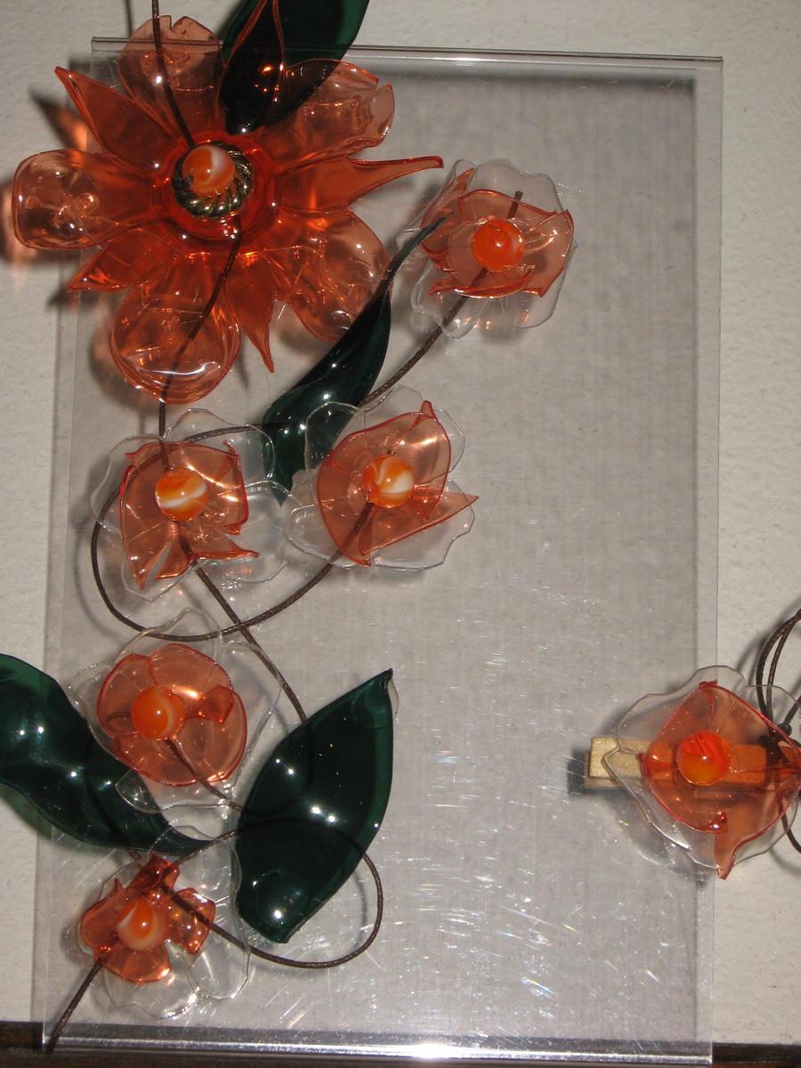 orange flower by GwennAisling