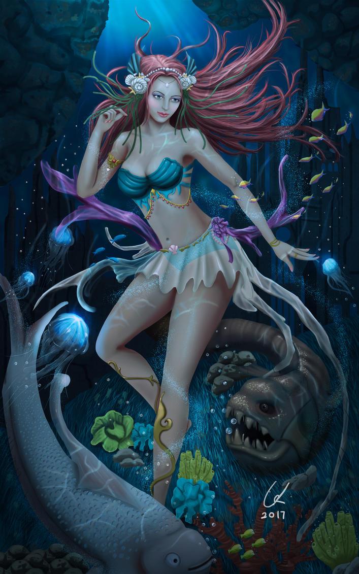 Human mermaid. by artofgx