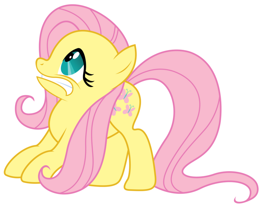 Scared Fluttershy- Vector by landBOOM on DeviantArt