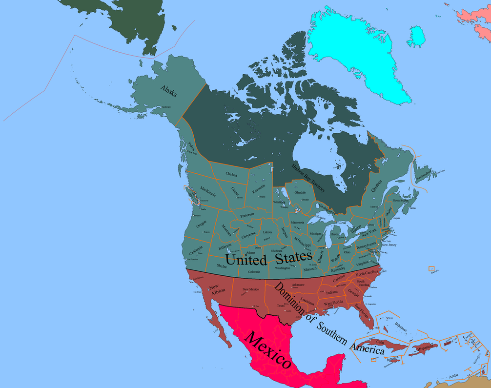 The British Dominion of Southern America by LouisTheFox on DeviantArt