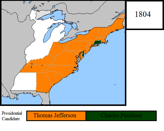 1804 Us Presidential Election Map By Louisthefox On Deviantart - Map-of-us-in-1804